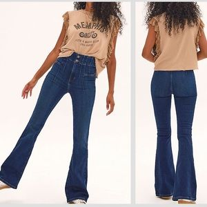 RARE! NWT FREE PEOPLE JAYDE FLARE JEANS 24